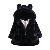 Kintaz Baby Infant Girls Autumn Winter Hooded Coat Cute Cloak Fleece Jacket Thick Warm Clothes