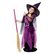 Toddler Kids Baby Little Girls Witch Costume Accessory Fairy Halloween Cosplay Party Fancy Dress +Hat Outfit