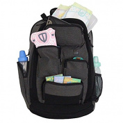 Nappy Dude Canvas Nappy Bag Backpack Baby Pocket Pack Organiser Large, Roomy Bag with Wipeable Changing Pad for Babies
