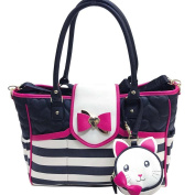 Betsey Johnson Flap Over Stripes Nappy Bag