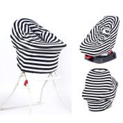 TRIEtree Multi Purpose Striped Cotton Nursing Breast Feeding Cover Scarf Baby Car Seat Canopy Nursing Blanket