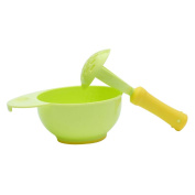 YeahiBaby Baby Kid Learning Dishes Grinding Bowl Handmade Grinding Fruit Supplement Food Mill Bowl
