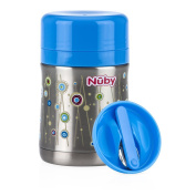 Nuby Stainless Steel Thermos, Blue