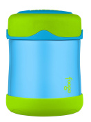 THERMOS FOOGO Vacuum Insulated Stainless Steel 300ml Food Jar, Blue/Green