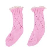pinnacleT1 Children Knitted Socks Cute Cartoon Cotton Knitting Soft Breathable Suck Sweat Socks Hand Sewn Middle Tube Socks Children Accessory size M