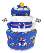 Nappy Cakes for Baby Showers Boy - Racecar Centrepiece by Sunshine Gift Baskets