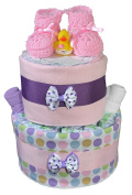 Nappy Cakes for Baby Showers Girl - Pink Booties Centrepiece by Sunshine Gift Baskets