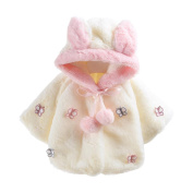 Lucoo 2017 Christmas Lovely New Fashion soft comfortable Baby Girl Fur Winter Warm Coat Cloak Jacket Thick Warm Clothes