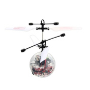 Flying Toy, UMFun Flying RC Electric Ball LED Flashing Light Aircraft Helicopter Induction Toy