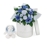 LUXURY BOUQUET AND BUNNY, BLUE
