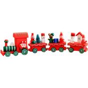 Tosangn Snowman Wood Christmas Gift Xmas Train Decoration Decor Gift