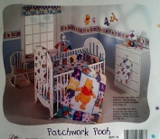 Winnie the Pooh Patchwork Crib Sheet Fitted