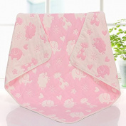 Brandream Receiving/Swaddling/Strolling/Everything Blankets - Dream Blanket,6 Layers 100% Organic Muslin Cotton Blankets,Toddler/Baby Shower Gift,Playful Deer And Pink Elephant Baby Blanket,Unisex