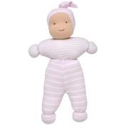 Under the Nile Baby Girl Chloe Baby Doll 25cm Organic Cotton Pale Pink Stripe Organic Cotton