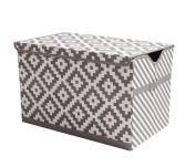 Bacati LOVE diamonds/Stripes Kids Storage