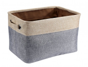 Collapsible Rectangular Storage Bin Organiser Basket Foldable Canvas Fabric Storage Cube Bin Set With Handles Portable For Clothes Nursery Books Toys Pets Kids