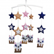 Unisex Nursery Mobile Musical Mobile For Crib Star Baby Mobile