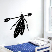 Sikye Feather Wall Stickers Decals Wall Art Mural Vinyl Home Room Decor Removable