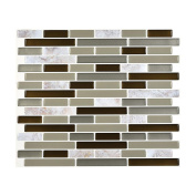 Sikye PET 3D DIY Wall Decor Embossed Brick Stone Wall Sticker Anti-mould for Living Room Unique TV Background