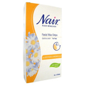 Nair 12 Facial Wax Strips with Camomile Extract - Pack of Six