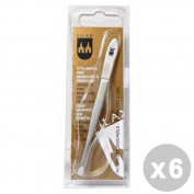 FILAX Set 6 Tweezers 9 cm. steel - accessories Toiletries