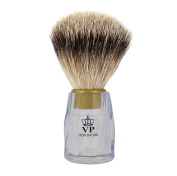 Shaving brush Royal VP - with genuine, pure badger hair - glass-clear handle