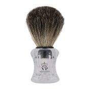 Shaving Brush Royal VP - with real, pure badger hair - transparent handle