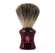 Shaving brush Royal VP - with real, pure badger hair - handle red