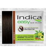 10 Pc Indica Easy10 Minutes Herbal Hair Colour Shampoo Base Dark Brown Herbs by OMG-Deal