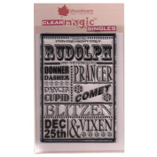 Woodware A6 Clear Cling Stamps - JGS540 For One Night Only