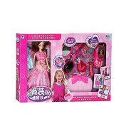 TOPJIN 1-6 Years Baby Girls Beauty Dolls Makeup Dress Up Collection Playset Toys