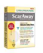 Scaraway 2 Month Supply Silicone Scar Sheet, Clear Discs, 60 Ct