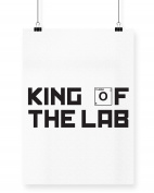 Hippowarehouse King of the Lab printed poster wall art wall design A3
