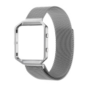 Fitbit Blaze Strap Replacement,Hanlesi Milanese Loop Stainless Steel Bracelet Smart Watch Wristbands Strap with Unique Magnet Lock Band Strap for Fitbit Blaze