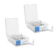 Push Pins, 1cm Point, 1.3cm Heads, 100 Per Box, Clear SPR81002 200 Count