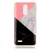 LG Aristo Case, LG Phoenix 3 Case, LG K8 (2017) Case, LG Fortune Case, LG Risio 2 Case, LG Rebel 2 LTE Case, Jewby 3D Marble Fashion Cute Colourful Case for LG LV3