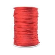 FQTANJU Red 2mm x 100 yards Satin Nylon Trim Cord, Rattail, Chinese Knot, Kumihimo, Premium Quality