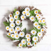 Snowfoller Sunflower Wreath 30cm Garland Window Door Decorations Ornament Hot Home Wall Garden Wedding Party Decoration