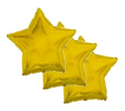 3 pc - 46cm Solid Gold Star Balloon Wedding Baby Bridal Shower Birthday Luau Boy