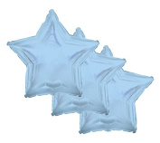3 pc- 46cm Solid Light Blue Star Balloon Wedding Baby Bridal Shower Birthday Luau