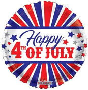 Kaleidoscope 87024 Happy 4th July 46cm Foil Balloon