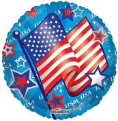 Kaleidoscope 87026 USA Flag & Stars 46cm Foil Balloon