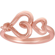 Knots of Love 14kt Rose Gold over Sterling Silver Heart Ring