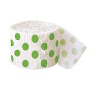 9.1m Crepe Paper Lime Green Polka Dot Party Streamers