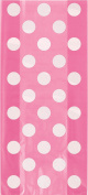 Cellophane Hot Pink Polka Dot Party Bags, Pack of 20