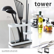 Kitchen storage tools stand kitchen tool of space harmonic sense useful tower series kitchen cute tower [Tower] black