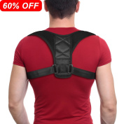 Posture Corrector Brace Shoulder Back Support Clavicle Brace Adjustable Figure 8 Training Muscles Spine Improve Posture Upper Back Pain Relief Extra Soft Breathable for Women and Men by Depp's