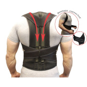 Back Support Posture Corrector Back Brace Fully Adjustable Back Support Belts Improves Posture and Provides Lumbar Support For Lower and Upper Back Pain Men and Women