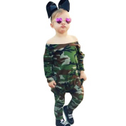 Momola Newborn Baby Unisex Clothes Infant Camouflage Long Sleeve Romper Jumpsuit, for 3-18 Months Toddler Girls Boys