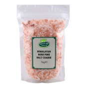 Himalayan Rose Pink Crystal Salt Coarse 1kg by Hatton Hill - Free UK Delivery